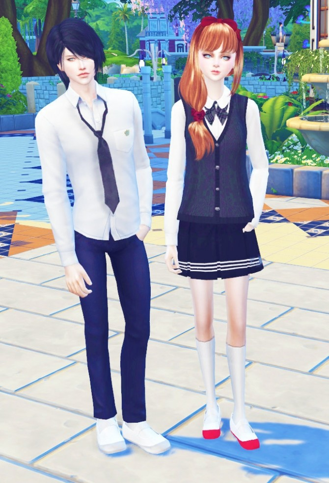 Sims 4 Japanese School Shoes at Studio K Creation