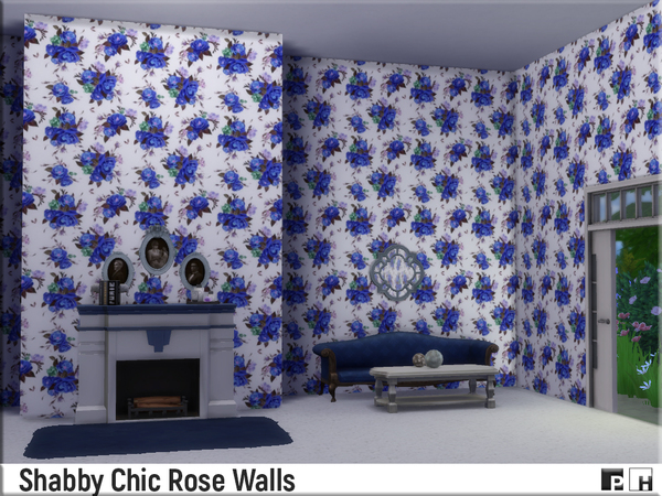 Shabby Chic Rose Walls by Pinkfizzzzz at TSR image 1710 Sims 4 Updates