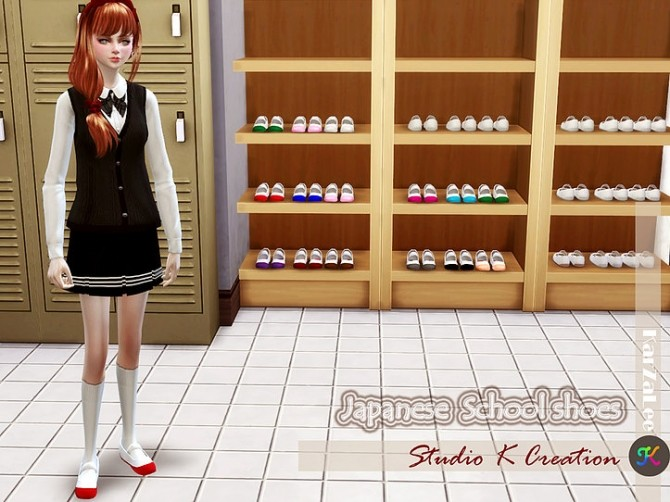 Japanese School Shoes Decor At Studio K Creation 187 Sims 4