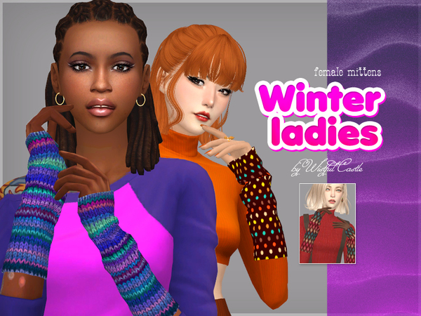 Winter ladies mittens by WistfulCastle at TSR image 1729 Sims 4 Updates