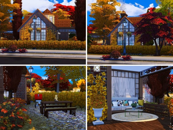 Sims 4 Cozy Autumn Home by MychQQQ at TSR