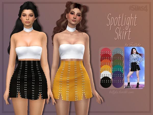 Sims 4 Spotlight Skirt by Trillyke at TSR