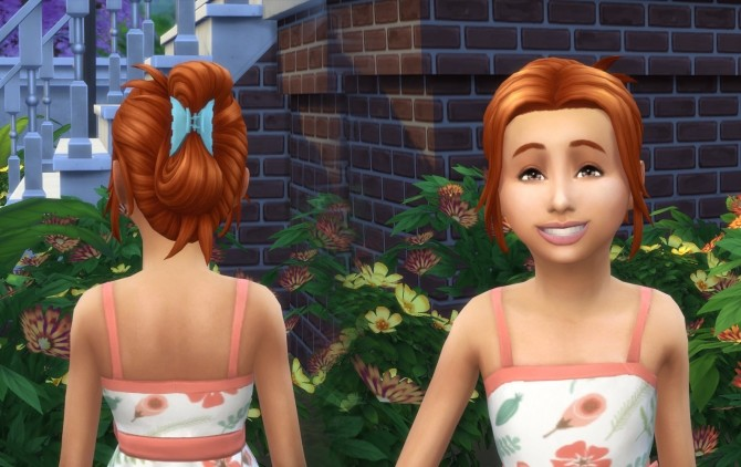 Sims 4 Claw Clip Up do for Girls at My Stuff