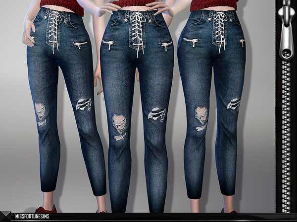 Sims 4 MFS Coco Jeans by MissFortune at TSR