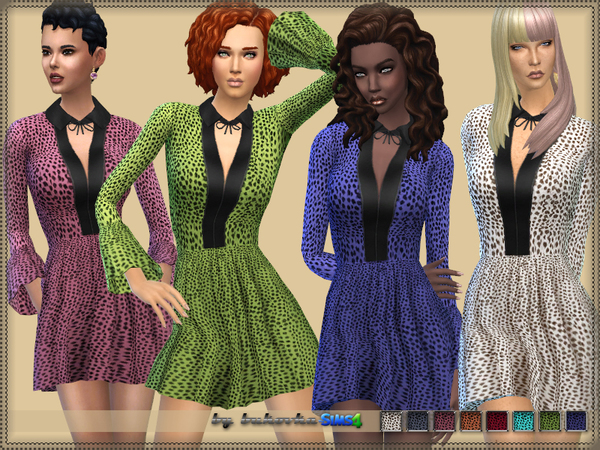 Dress Frill 2 by bukovka at TSR image 1820 Sims 4 Updates