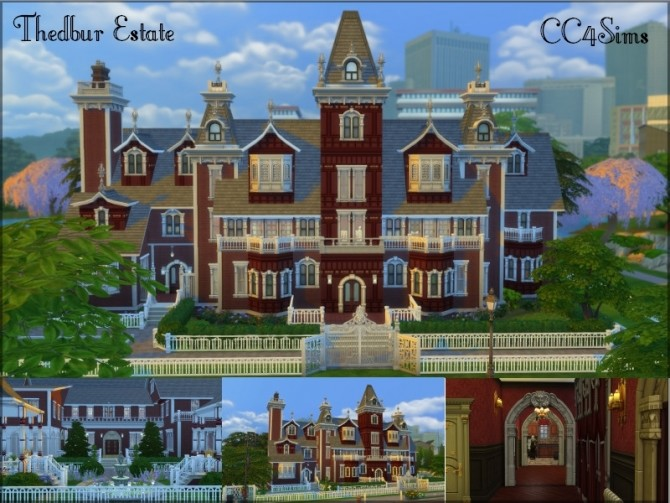 Sims 4 Thedbur estate by Christine at CC4Sims