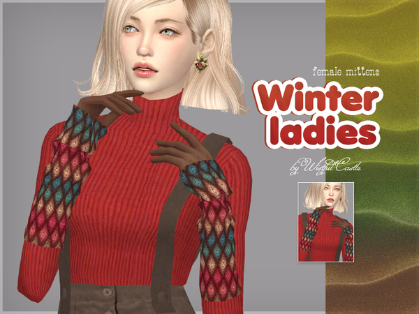 Winter ladies mittens by WistfulCastle at TSR image 1829 Sims 4 Updates