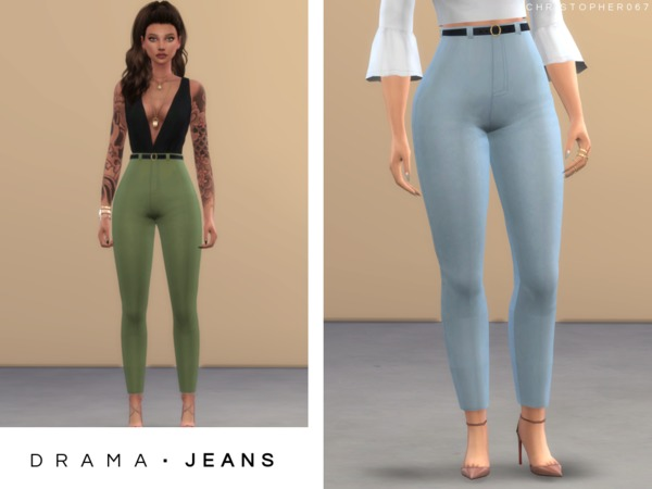 Sims 4 Drama Jeans by Christopher067 at TSR
