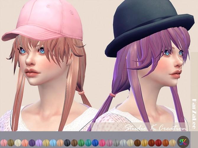 Sims 4 Animate hair 88 Yuno Gasai at Studio K Creation
