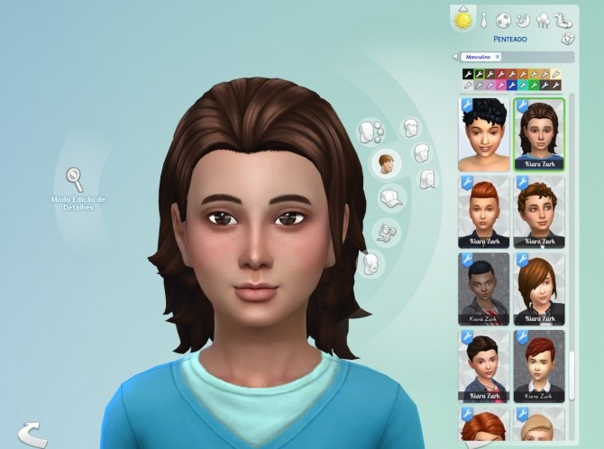 Sims 4 Messy Mid Length for Kids at My Stuff
