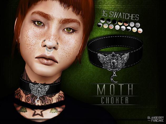 Sims 4 Moth Choker at Blahberry Pancake