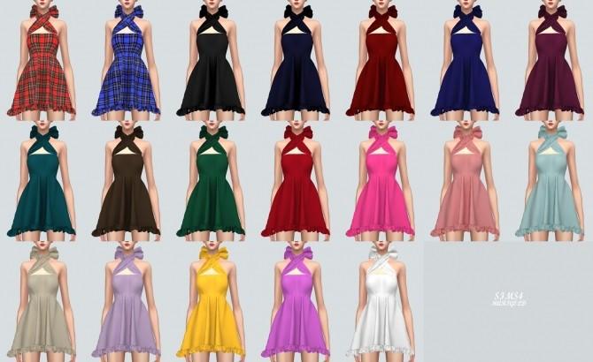 Sims 4 X Mini Dress With Ribbon at Marigold