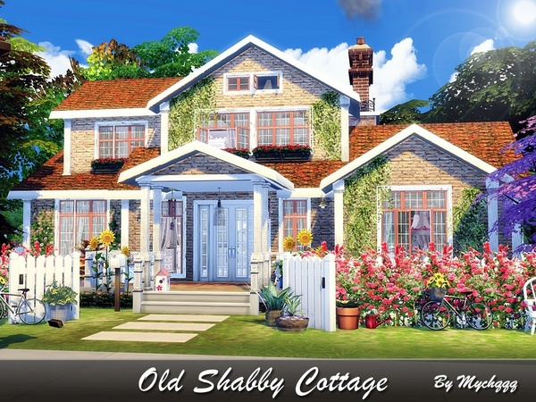 Old Shabby Cottage by MychQQQ at TSR image 1917 Sims 4 Updates