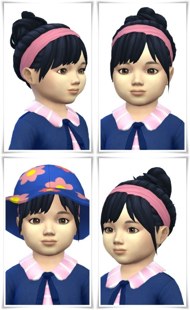 Sims 4 Toddler Messie Bun&Band at Birksches Sims Blog
