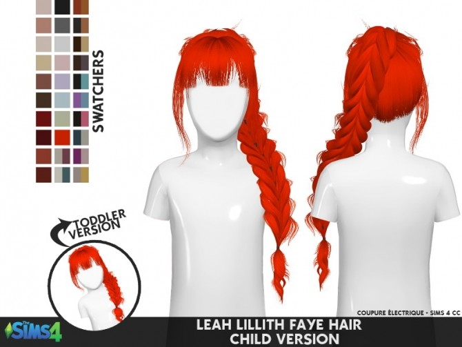 LEAH LILLITH FAYE HAIR 001 TODDLER AND kids at REDHEADSIMS image 1931 670x503 Sims 4 Updates