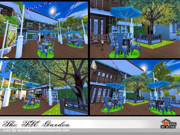 Sims 4 The TK Garden cafe by autaki at TSR