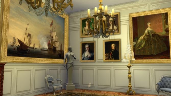 Various 18th Century Paintings Set At Regal Sims 187 Sims 4