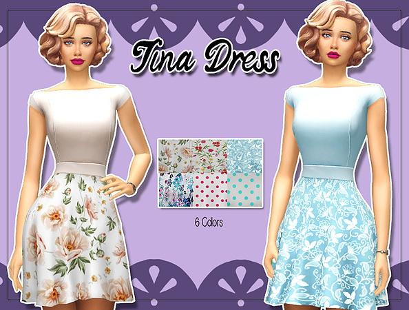 Sims 4 Tina dress at Kass