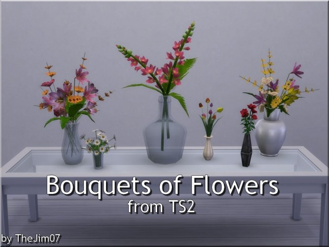 Sims 4 Bouquets of Flowers from TS2 by TheJim07 at Mod The Sims