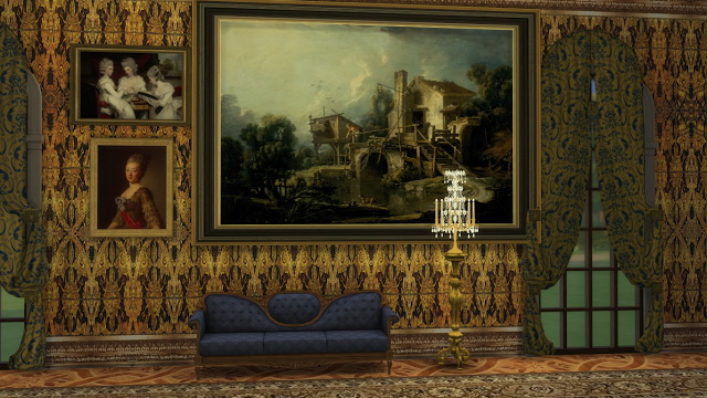 Various 18th Century Paintings Set at Regal Sims image 1976 Sims 4 Updates