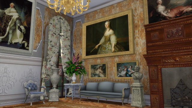 Various 18th Century Paintings Set at Regal Sims image 1995 Sims 4 Updates