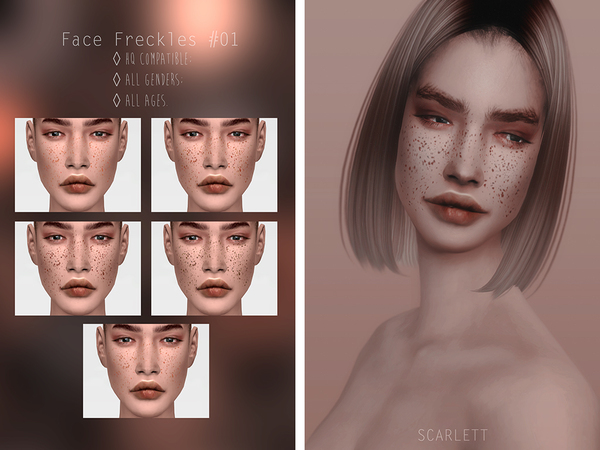 Face Freckles #01 by Scarlett content at TSR image 2 Sims 4 Updates
