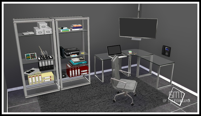 IDBD Stainless Steel Office Set at Sims Modern Technology image 201 Sims 4 Updates