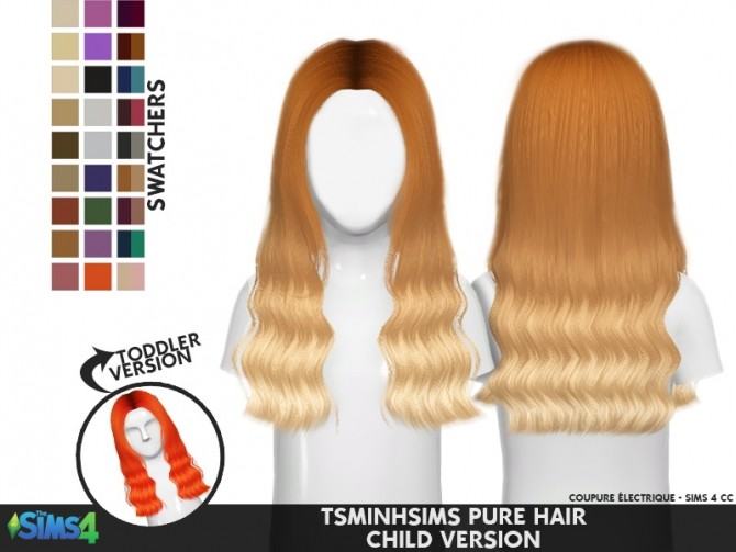 TSMINHSIMS HAIR 51 PURE TODDLER/KIDS at Coupure Electrique image 2012 670x503 Sims 4 Updates