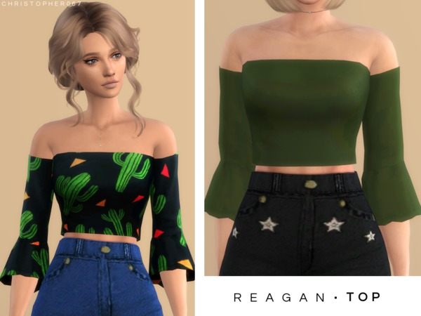 Reagan Top by Christopher067 at TSR image 2016 Sims 4 Updates