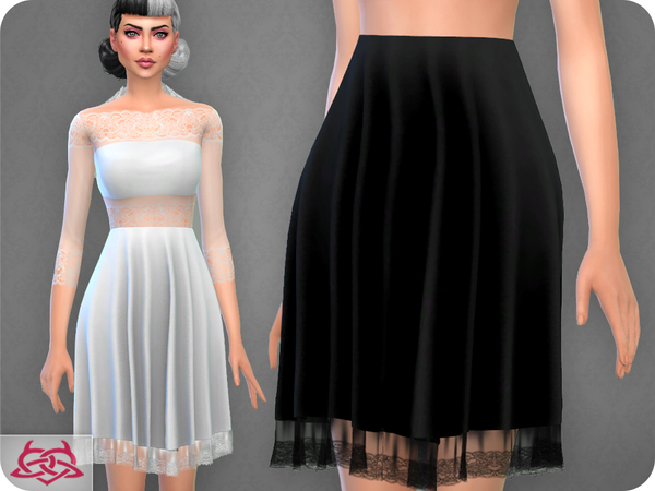 Sims 4 Carmen Skirt RECOLOR 2 by Colores Urbanos at TSR