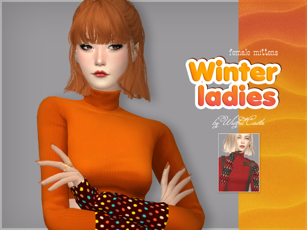 Winter ladies mittens by WistfulCastle at TSR image 2028 Sims 4 Updates