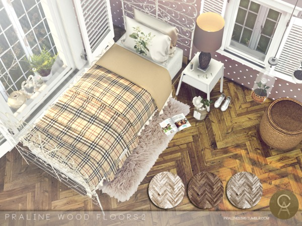 Sims 4 Wood Floors 2 by PralineSims at TSR