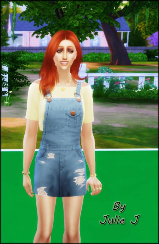 Sims 4 Denim outfit at Julietoon – Julie J