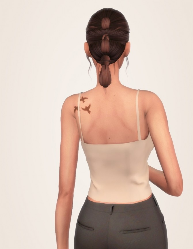 Simple Solid Tank Top, Acc Long Cardigan & Mid Rise Jeans at Elliesimple image 2072 670x862 Sims 4 Updates