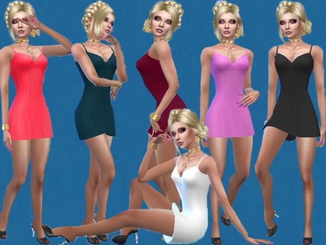 Thin strap mini dress at Trudie55 image 209 670x503 Sims 4 Updates