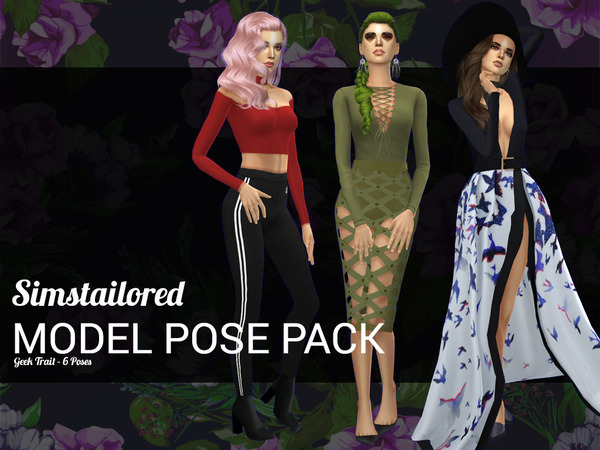 Model Pose Pack Geek Trait by Simstailored at TSR image 2103 Sims 4 Updates