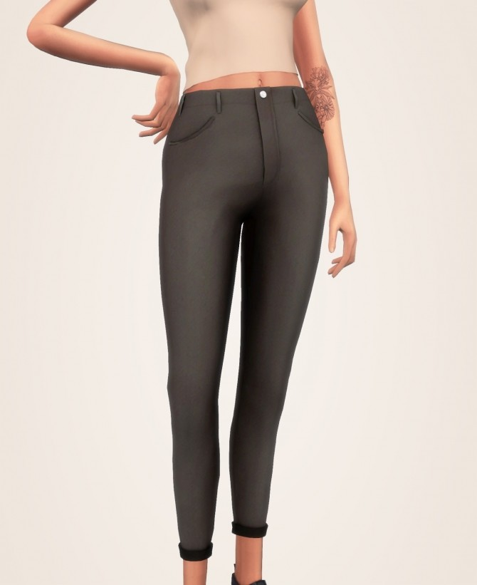 Simple Solid Tank Top, Acc Long Cardigan & Mid Rise Jeans at Elliesimple image 2104 670x821 Sims 4 Updates