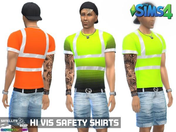 Hi Vis Safety Shirts by SatelliteBeep at TSR image 2105 Sims 4 Updates
