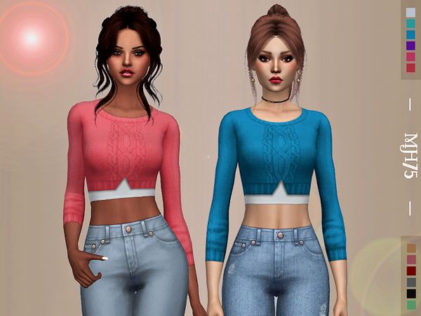 Sims 4 Olwyn Top by Margeh 75 at TSR