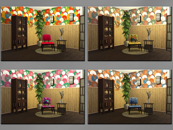 MB Smell of Asia Bamboo wall by matomibotaki at TSR image 2129 Sims 4 Updates