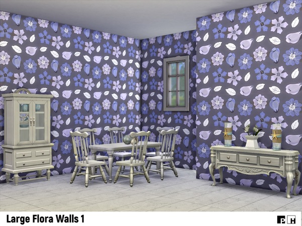 Large Flora Walls 1 by Pinkfizzzzz at TSR image 2134 Sims 4 Updates