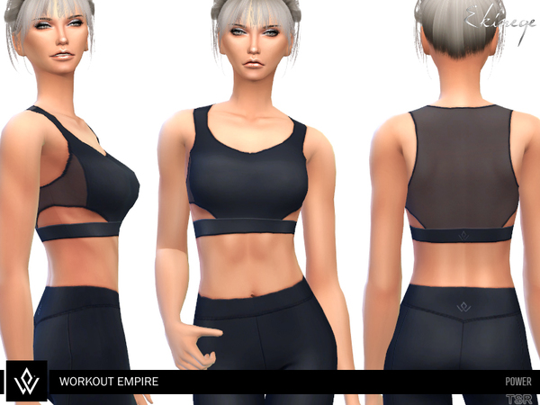 Sims 4 Power Sheer Bra by ekinege at TSR