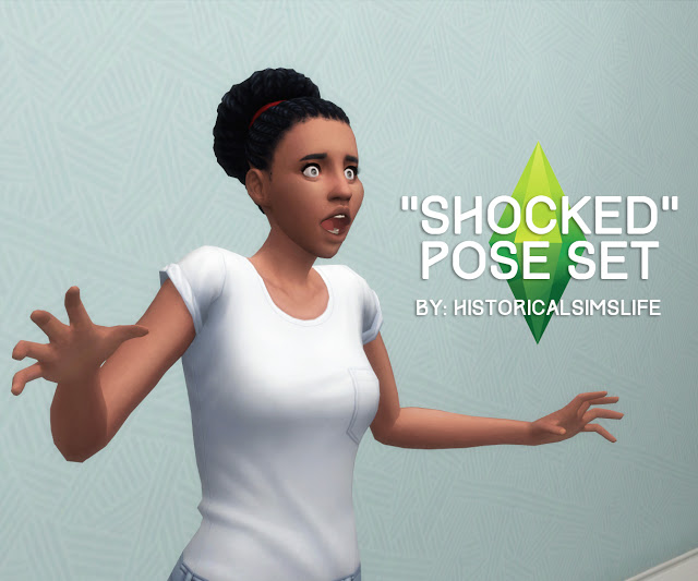 Shocked and Surprised Pose Set at Historical Sims Life image 2158 Sims 4 Updates