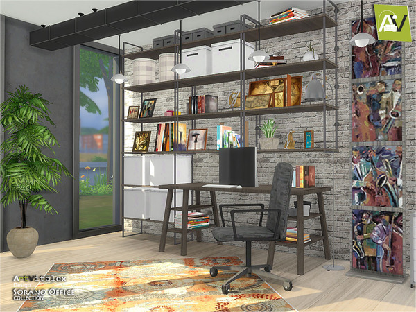 Sorano Office by ArtVitalex at TSR image 2160 Sims 4 Updates