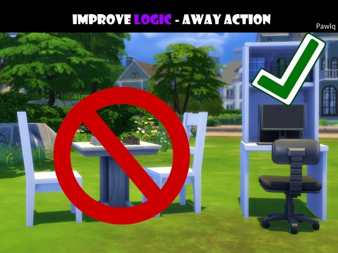 Improve Logic skill away action by Pawlq at Mod The Sims image 2163 670x502 Sims 4 Updates