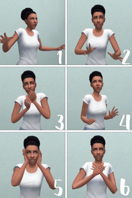 Sims 4 Shocked and Surprised Pose Set at Historical Sims Life