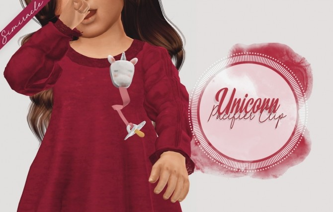 Sims 4 Unicorn Pacifier Clip 3T4 at Simiracle
