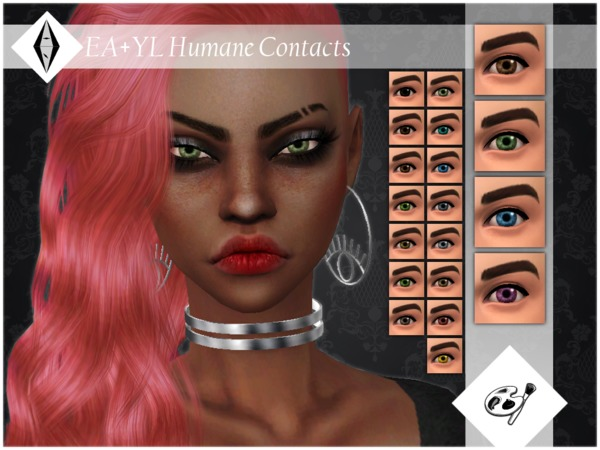 Humane Contacts Facepaint by ALExIA483 at TSR image 22 Sims 4 Updates