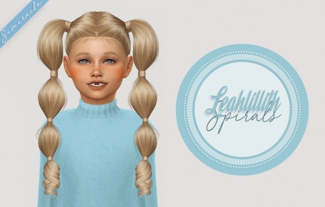 Sims 4 LeahLillith Spirals Hair Kids Version at Simiracle