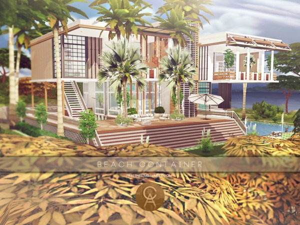 Sims 4 Beach Container by Pralinesims at TSR